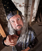 Middle Aged Wizard — Stock Photo
