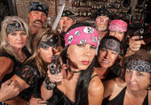 Threatening Biker Gang — Stock Photo
