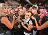 Thugs Teasing Nerds — Stock Photo