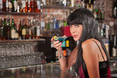 Seductive Woman Drinking — Stock Photo