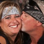 Mature Bearded Man Kisses Woman — Stock Photo #20077487