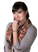 Giggling Hispanic Female — Stock Photo