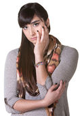 Depressed Young Woman — Stockfoto