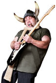 Viking Rock Guitarist — Stock Photo