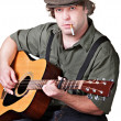 Smoking Guitar Player — Stockfoto