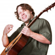Royalty-Free Stock Photo: Excited Guitar Player