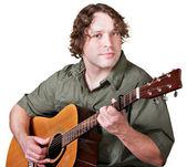 Cheerful Guitar Player — Stock Photo