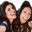 Laughing Sisters — Stock Photo