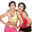 Giggling Workout Girls — Stock Photo