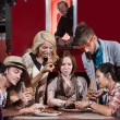Food Truck Diners — Stock Photo