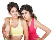 Serious Women in Fitness Clothes — Stock Photo