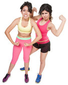 Workout Girls Flexing — Stock Photo