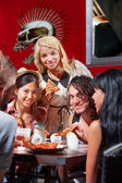Diverse Group Eating Pizza Outside — Stock Photo