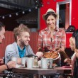Plate of Pizza with Friends — Stock Photo