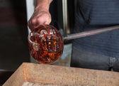 Arte de vidro fantasia abóbora — Foto Stock
