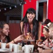 Stock Photo: PizzDinner at Food Truck