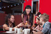 Pizza Dinner at Food Truck — Stock Photo