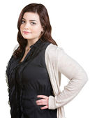 Lady with Hands on Hips — Stock Photo