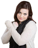 Skeptical Lady with Arms Crossed — Stock Photo