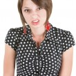 Stock Photo: Offended Young Lady