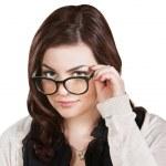 Lady Holding Glasses — Stock Photo