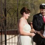 Happy Couple in Civil Union — Stock Photo