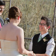Outdoor Civil Union Ceremony — Stock Photo