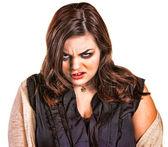 Gekke vrouw in trui — Stockfoto