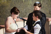 Lesbian Couple Marriage Ceremony — Stock Photo