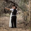 Couple Dancing in Forest — Stock Photo #24050551