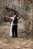 Couple Dancing in Forest — Stock Photo