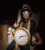 Rapper with Large Clock — Stock Photo
