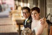 Casal gay de cheeful — Foto Stock