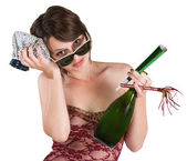 Party Girl with Hangover — Stock Photo