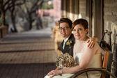 Same Sex Bride and Groom — Stock Photo