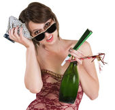 Recovering Party Girl — Stock Photo