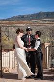 Rabbi Marrying Gay Couple — Stock Photo
