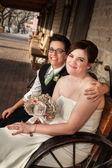 Hetzelfde geslacht getrouwd paar — Stockfoto