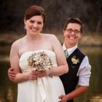 Couple Posing for Civil Union — Stock Photo #24714541