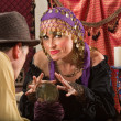 Fortune Teller Waving Hands - Stock Photo