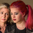 Stock Photo: Sad Mother and Daughter