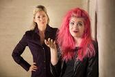 Punková teen ignorace rodič — Stock fotografie