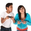 Kids Playing Video Games - Lizenzfreies Foto