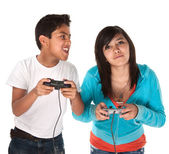 Kids Playing Video Games — Stock Photo