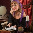 Pretty Roma Fortune Teller — Stock Photo