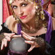 Waving Over a Crystal Ball — Stock Photo