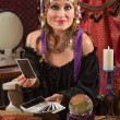 Charming Tarot Card Lady — Stock Photo
