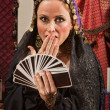 Surprised Female Fortune Teller — Stock Photo