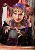 Gorgeous Fortune Teller — Stock Photo