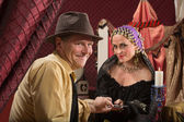 Lucky Man with Fortune Teller — Stock Photo